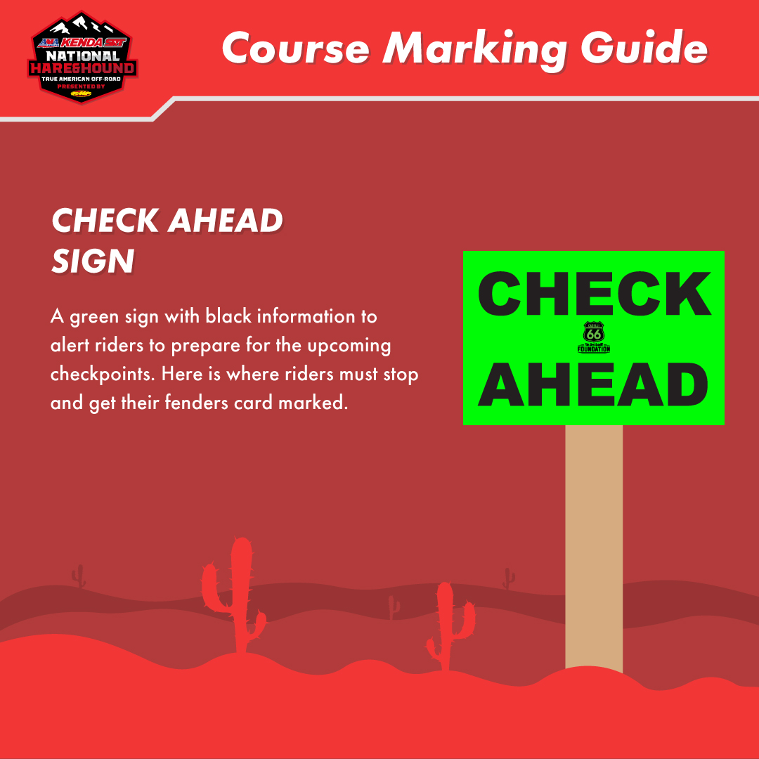 Course Markings – KENDA SRT AMA National Hare and Hound, presented